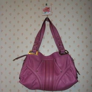 Monaco Rose Pink Glove Leather  b.makowski Satchel